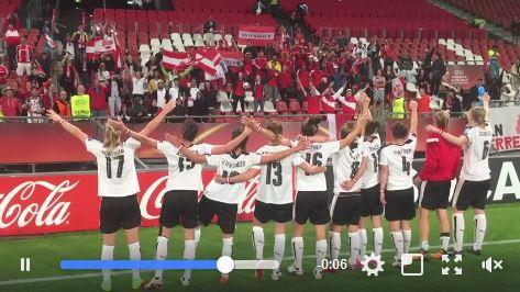 """I am from Austria"" – ÖFB-Frauen feiern Sensationspunkt gegen Frankreich"