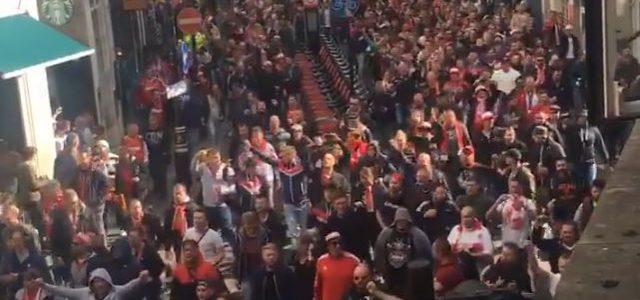 Köln-Fans in London vor der Arsenal-Partie