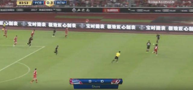 Milans Aufbauspiel gegen die Bayern beim 4:0-Sieg