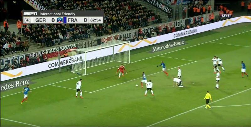 Ausgespielt: Frankreichs Führungstreffer gegen Deutschland (0:1)