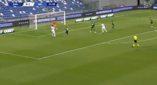 Sassuolo – Milan: Ibrahimovic entwischt Müldür mehrere Male
