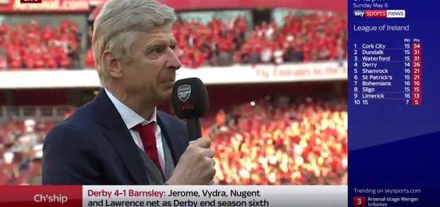 Wengers letzte Rede vor Arsenal-Fans