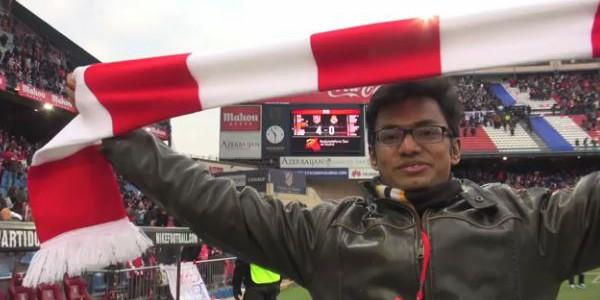 Atletico-Fan aus Indien gewinnt Facebook-Gewinnspiel und sieht den 4:0-Sieg gegen Real live im Stadion