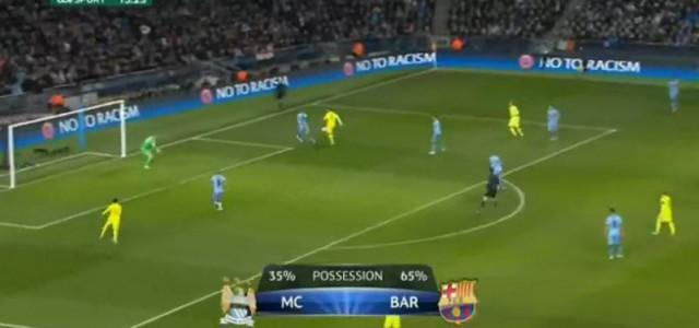 Suarez bringt den FC Barcelona gegen City in Führung (1:0)