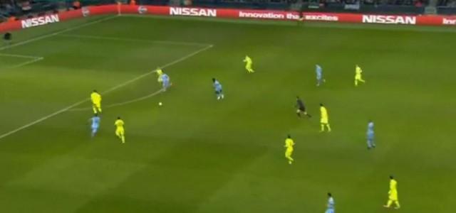 Sergio Agüero mit dem Anschlusstreffer gegen den FC Barcelona (1:2)