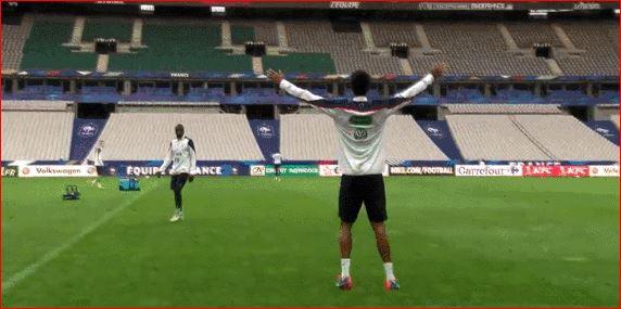 Raphaël Varane zeigt im Training seine Technik