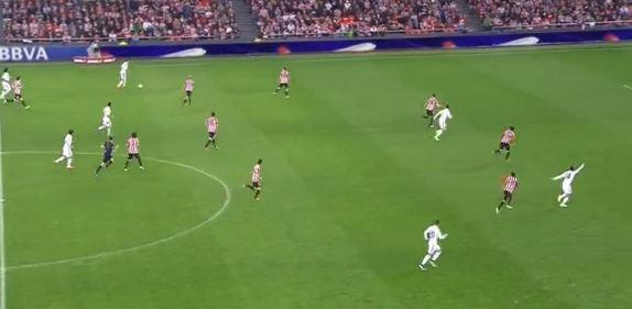 Gareth Bales Stangenschuss gegen Athletic Bilbao