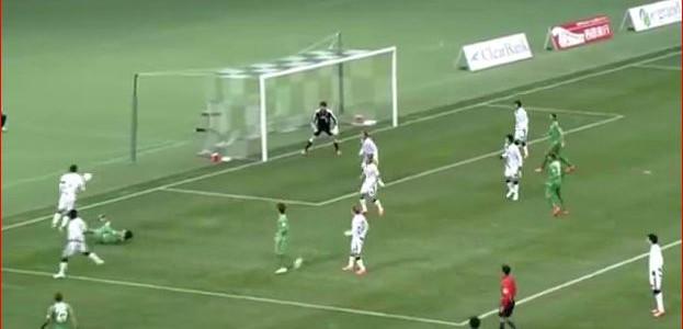 Kurioser Assist in der zweiter Spielklasse Japans