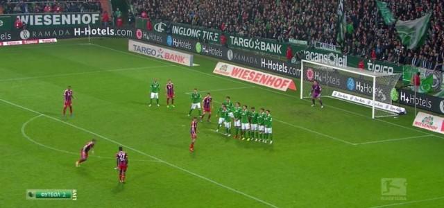 David Alabas Freistoßtor gegen Werder Bremen