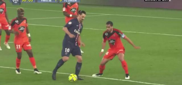 Zlatans Traumpass gegen Lorient