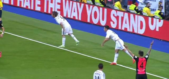 """""""Doppeleinwurf"""" von Real-Madrid-Spielen"""