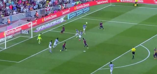 Pedros Fallrückzieher gegen Real Sociedad (2:0)
