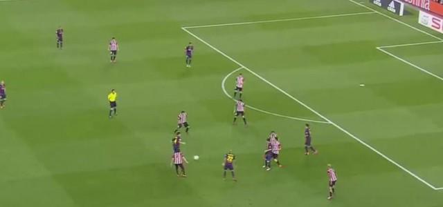 Schöne Kombination des FC Barcelona führt zum 2:0 (Cup-Finale 2015)