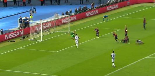 Morata trifft zum 1:1 (CL-Finale 2015)
