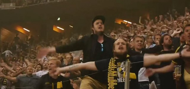 Top-Stimmung beim Tvillingderbyt ( AIK Solna vs. Djurgårdens IF)