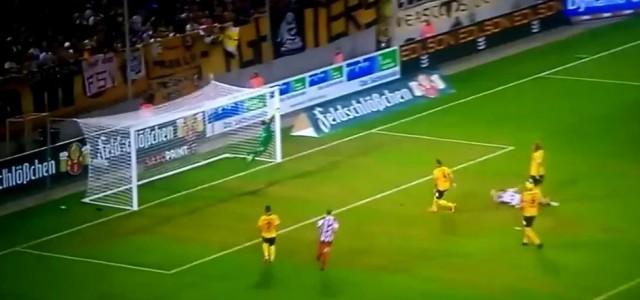 Carsten Kammlott (RW Erfurt) mit Traumtor gegen Dynamo Dresden