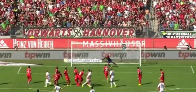 Çalhanoğlus Freistoßtor gegen Hannover 96