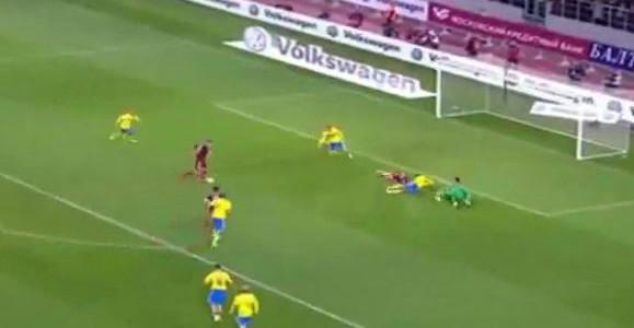 Russlands Treffer gegen Schweden (1:0)