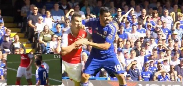 Diego Costas gelbe Karte gegen Arsenal
