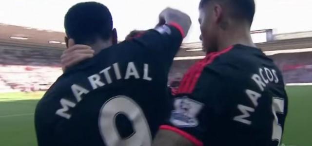 Anthony Martials Doppelpack gegen Southampton