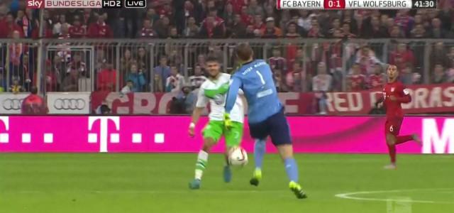 Manuel Neuers Ausflug gegen Wolfsburg geht beinahe schief