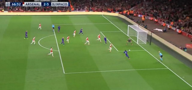 Arsenals 2:3-Niederlage gegen Olympiakos (Highlights)