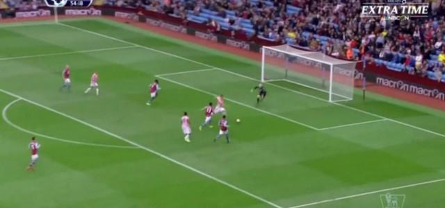 Marko Arnautovic trifft gegen Aston Villa