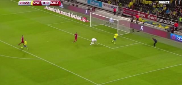 Zlatan Ibrahimovic trifft gegen Moldawien