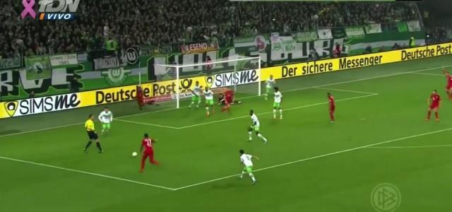 Alabas erster Assist für Thomas Müller gegen Wolfsburg (2:0)
