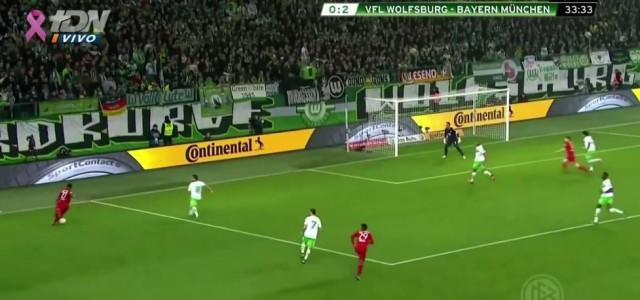 Alabas zweiter Assist für Thomas Müller gegen Wolfsburg (3:0)