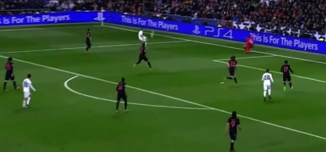 Nacho Fernández mit dem Siegtor gegen PSG