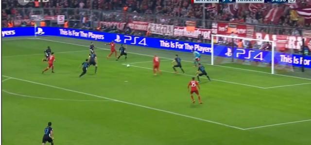 David Alabas Assist zum 4:0 gegen Arsenal