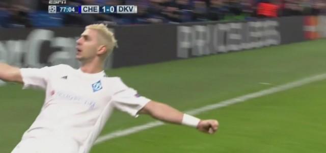 Dragovic trifft zum 1:1 gegen Chelsea