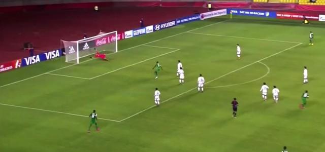 Orji Okwonkwo irres Tor im U17-Länderspiel gegen Mexiko