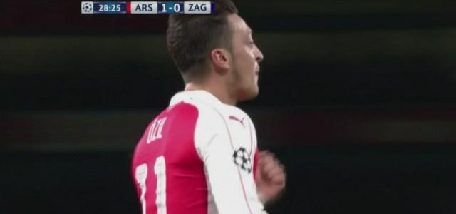 Özils Treffer gegen Dinamo Zagreb