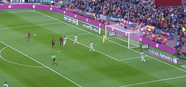 Luis Suarez trifft spektakulär gegen Real Sociedad