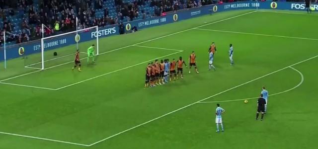 Kevin De Bruynes Treffer gegen Hull City (Capital One Cup)