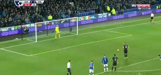 Marko Arnautovic verwandelt Elfmeter gegen Everton zum 4:3