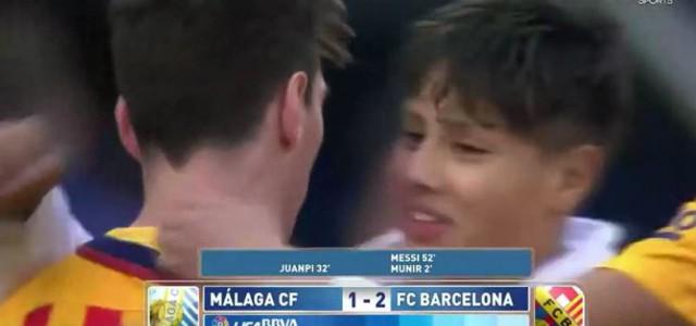 Messi schenkt einem jungen Fan sein Trikot