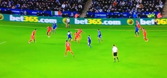 Tolle Kombination von Leicester gegen Liverpool