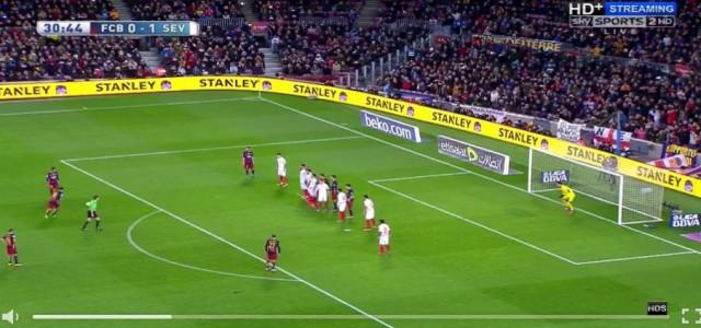Messis Freistoßtor gegen den FC Sevilla