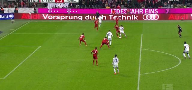 Baumgartlingers Assist zum Siegtor gegen den FC Bayern München