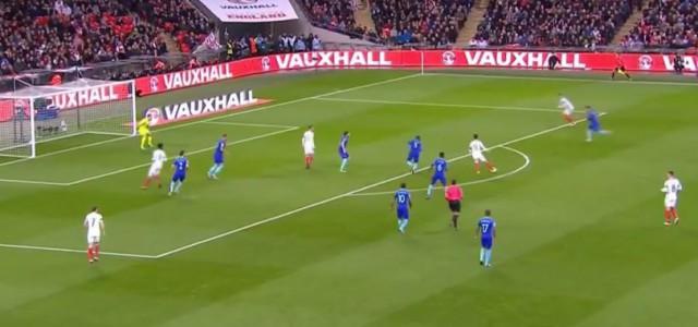 Jamie Vardys Treffer gegen die Niederlande