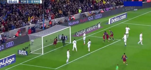 Pique bringt den FC Barcelona in Führung gegen Real (1:0)