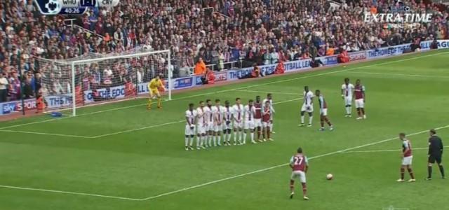 Dimitri Payets Traumfreistoß gegen Crystal Palace
