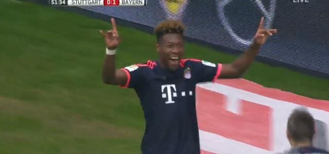 David Alabas Treffer gegen den VfB Stuttgart