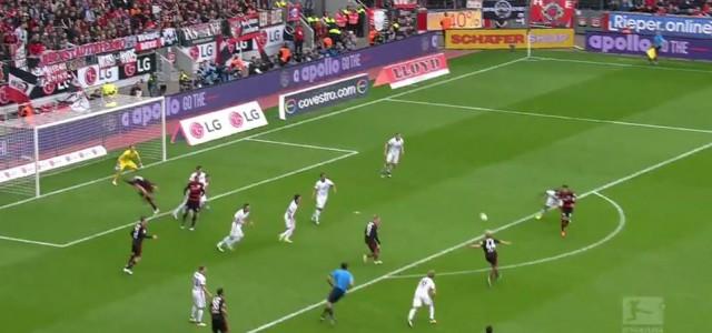 Kampls Traumtor gegen Eintracht Frankfurt