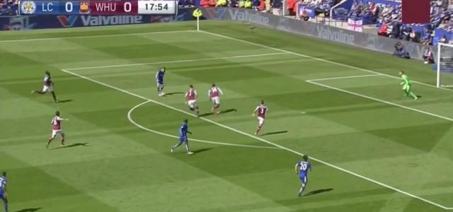 Jamie Vardy trifft gegen West Ham zum 1:0