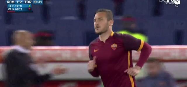Francesco Totti dreht mit Doppelpack Spiel gegen FC Turin