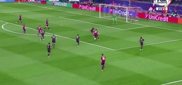 Saúl Ñíguez macht das 1:0 gegen den FC Bayern